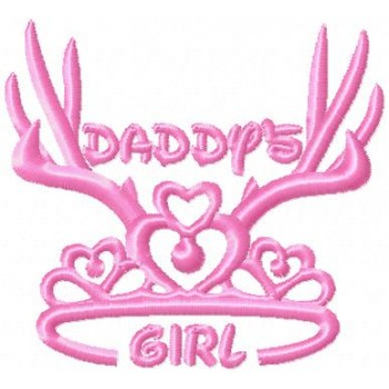 Daddy's girl machine embroidery design for instant download