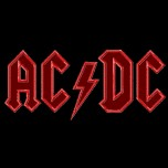 AC DC logo machine embroidery design for instant download in 6 sizes