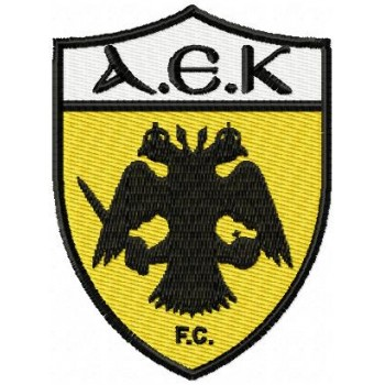 AEK Athens F.C. logo machine embroidery design for instant download