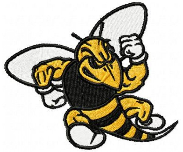 Yellow Jacket Machine Embroidery Design