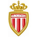 AS MONACO FC logo machine embroidery design for instant download