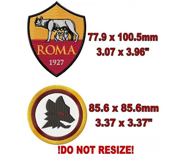 As Roma Fc 2 Logos Machine Embroidery Designs For Instant Download