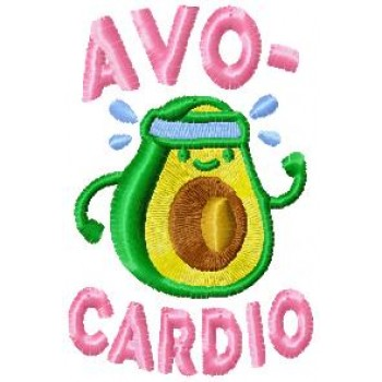 AVO-CARDIO machine embroidery design for instant download