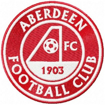 Aberdeen FC logo machine embroidery design for instant download