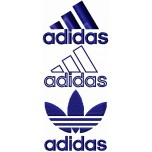 Adidas logo machine embroidery design for instant download