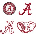 Alabama Crimson Tide logo machine embroidery design for instant download