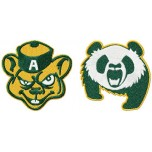 University of Alberta Golden Bears and Pandas logos machine embroidery design for instant download