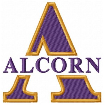 Alcorn State Braves logo machine embroidery design for instant download