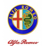 Alfa Romeo logo machine embroidery designs for instant download