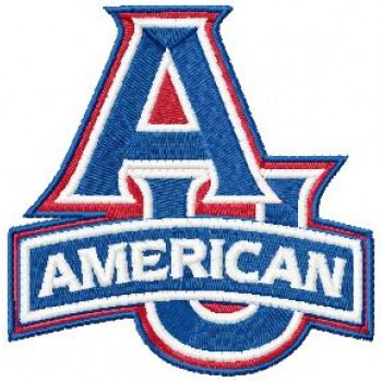 American University Eagles logo machine embroidery design for instant download