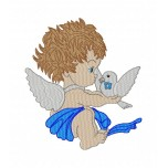 Angel Machine Embroidery Design for instant download