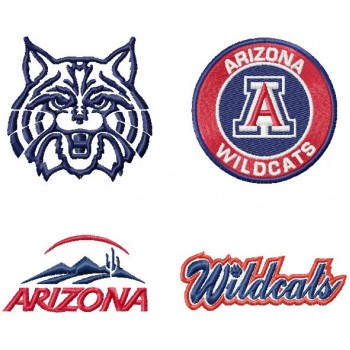 Arizona Wildcats logo machine embroidery design for instant download