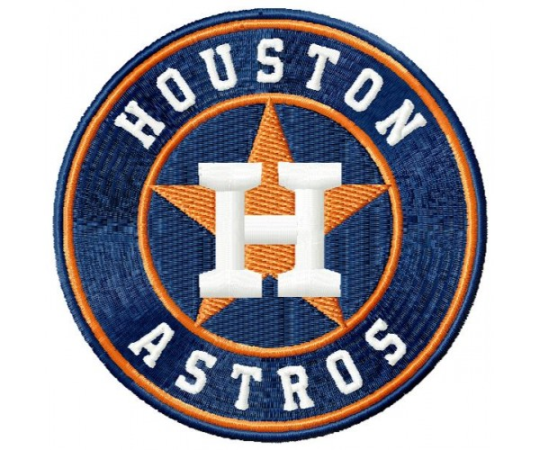 Astros Logos Machine Embroidery Design For Instant Download