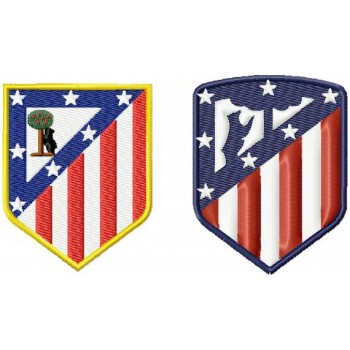 Atletico Madrid FC logo machine embroidery design for instant download