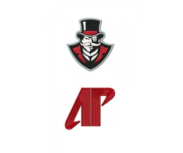 Austin Peay Governors Logo Machine Embroidery Design For Instant