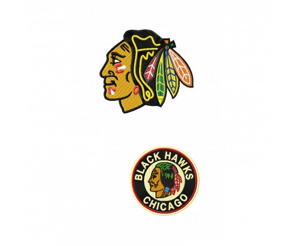 Chicago Blackhawks Logos Machine Embroidery Design For