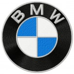 BMW Logo Machine Embroidery Design in 5 sizes for instant download