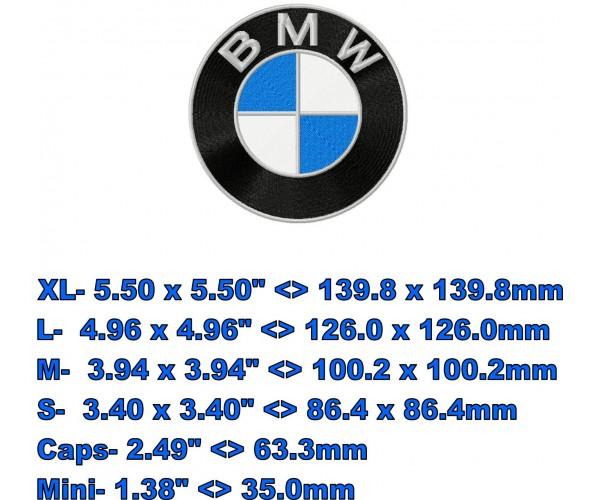 Bmw Xxx: BMW Logo Machine Embroidery Design In 5 Sizes For Instant