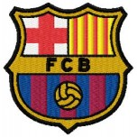 Barcelona FC logo machine embroidery design for instant download