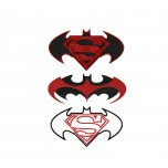 Batman vs Superman 3 logos machine embroidery design for instant download