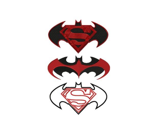 superman machine embroidery design