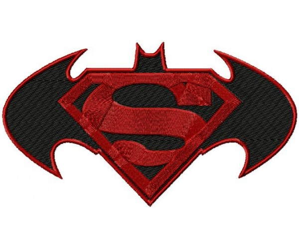 batman vs superman 3 logos machine embroidery design for