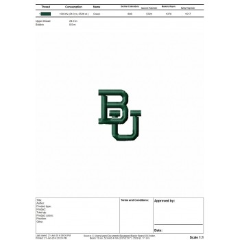Baylor Bears logos machine embroidery design for instant download