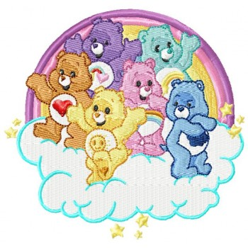 Care Bears machine embroidery design in 3 sizes for instant download