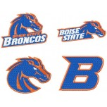 Boise State Broncos logo machine embroidery design for instant download