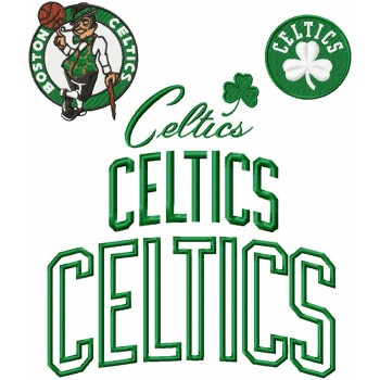 Boston Celtics logo machine embroidery design for instant download