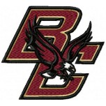 Boston College Eagles logo machine embroidery design for instant download