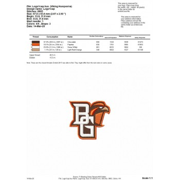 Bowling Green Falcons logos machine embroidery design for instant download
