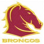 Brisbane Broncos logo machine embroidery design for instant download