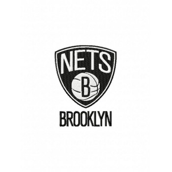 Brooklyn Nets logo machine embroidery design for instant download