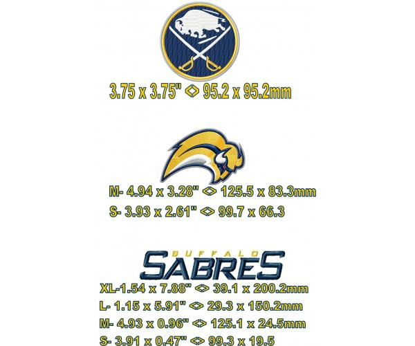 Buffalo Sabres Logos Machine Embroidery Design For Instant