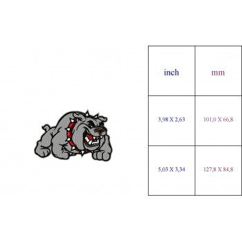 Bulldogs Logo Machine Embroidery Design for instant download