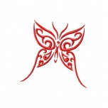 Butterfly Free machine embroidery design for instant download