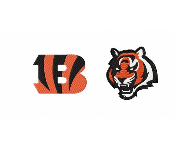 Cincinnati Bengals Logos Machine Embroidery Design For Instant Download