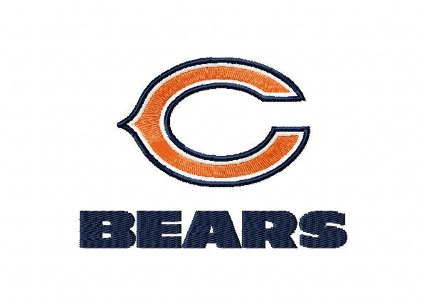 Chicago Bears 3 Logos Machine Embroidery Design For