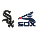 Chicago White Sox 2 Logos Machine Embroidery Design for instant download