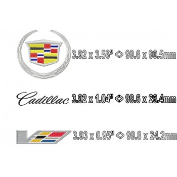 Cadillac logo Machine Embroidery design for instant download