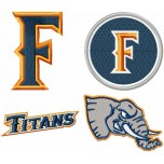 Cal State Fullerton Titans logo machine embroidery design for instant download