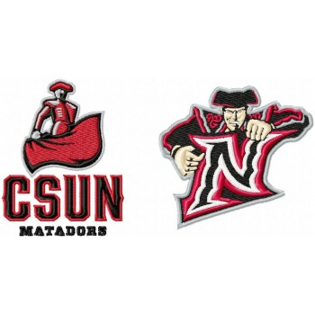 Cal State Northridge Matadors logo machine embroidery design for instant download