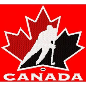 Canada hockey logo machine embroidery design for instant download
