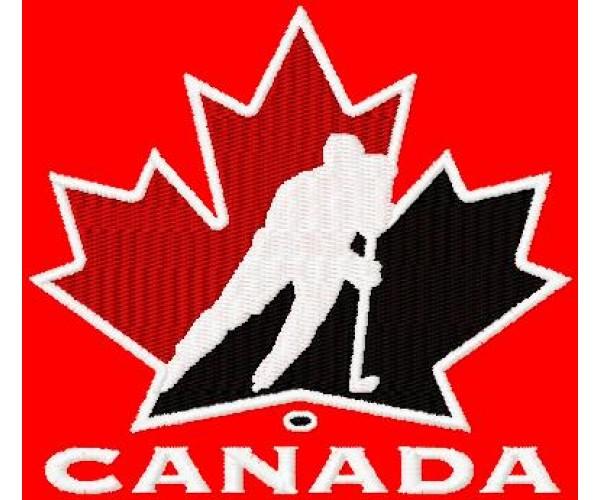 Canada Hockey Logo Machine Embroidery Design For Instant