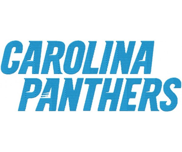 Carolina Panthers Logos Machine Embroidery Design For