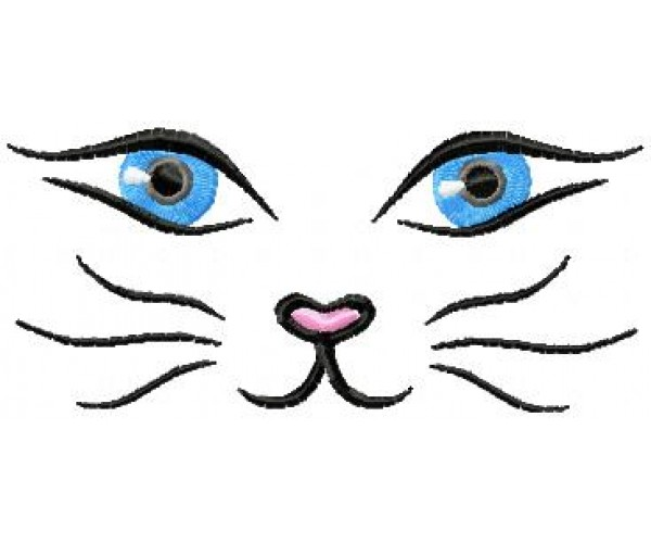 Cool Mouse Face Embroidery Design