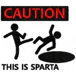 Caution this is Sparta machine embroidery design for instant download