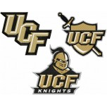 Central Florida Knights logos machine embroidery design for instant download