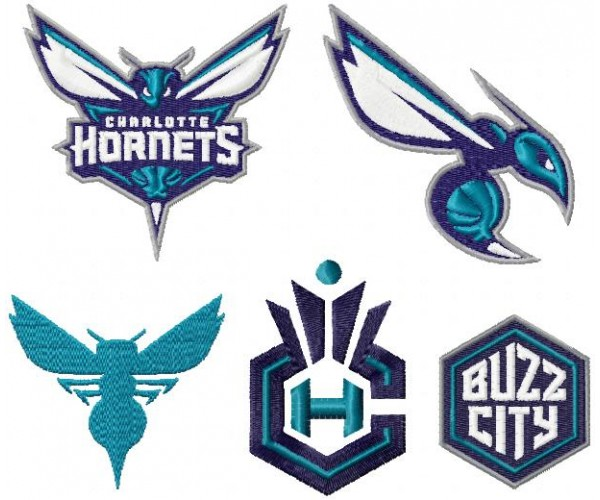 Charlotte hornets logo machine embroidery design for